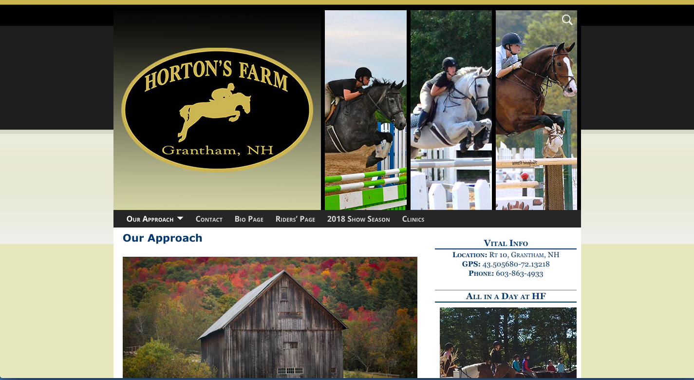 Hortons farm maintained by Clients Website Company