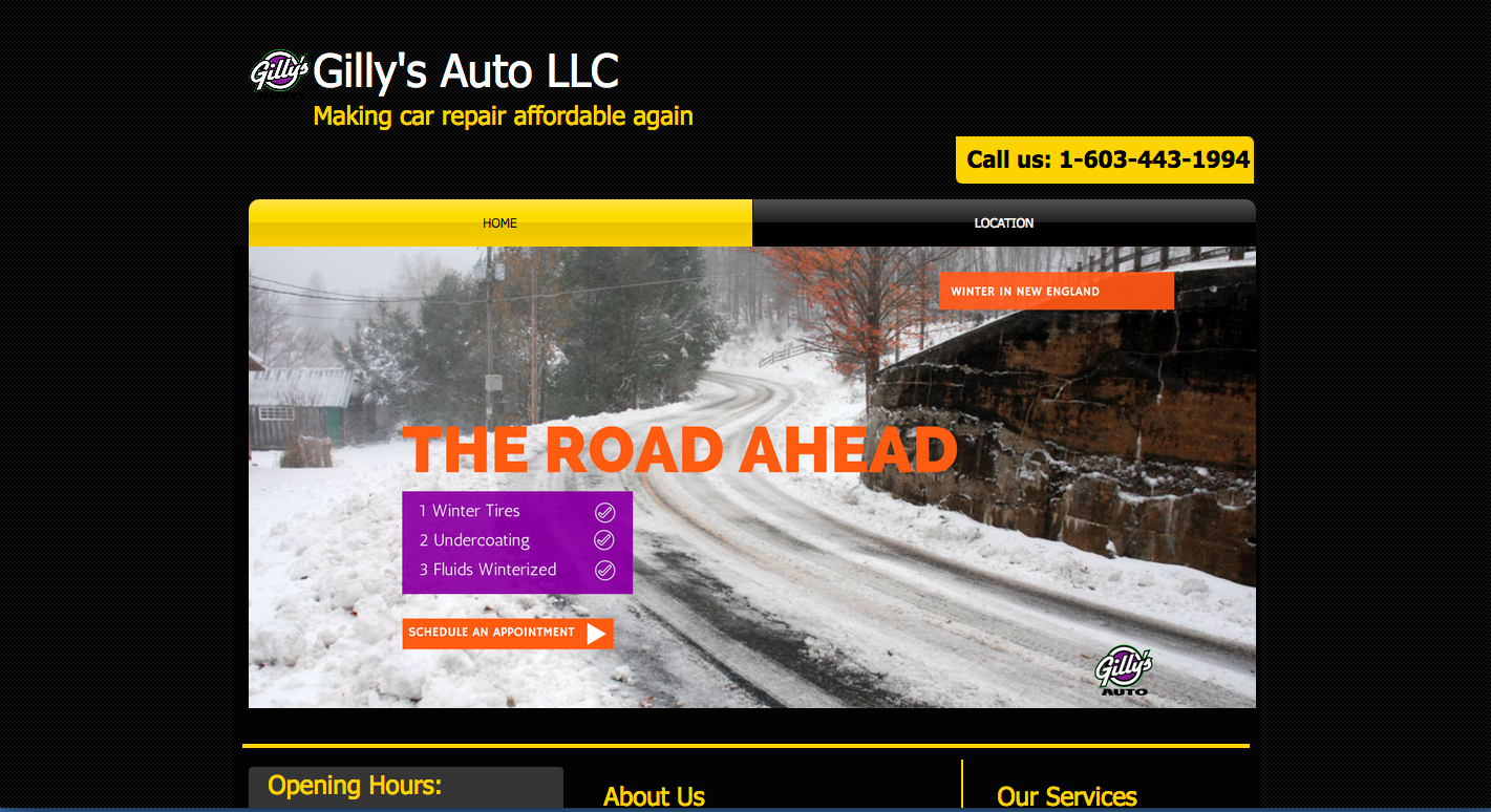 Gilly's Auto Maintained by Clients Website Company